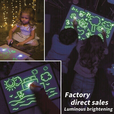 A3 A4 A5 Drawing Board Light Up Draw Sketchpad Board Fun Kids Developing Toys