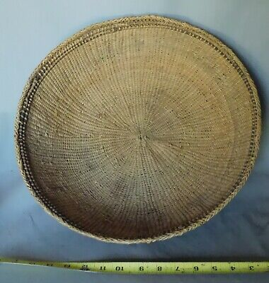 Antique Yanomami tray basket Yanomamo Amazon Native Venezuela old rattan Brazil