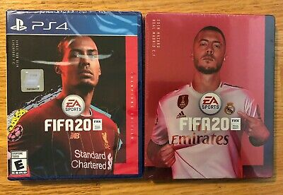 New FIFA 20 Champions Edition For PS4 (Sony PlayStation 4, 2019) W/ Steel Book