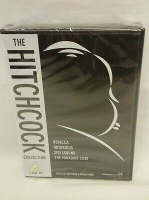The HITCHCOCK Collection - 4 Disc Dvd Box Set (New & Sealed)    M-0304-MY-W45