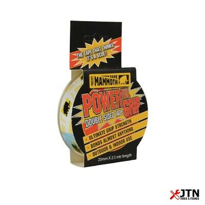 Everbuild 2POWERGRIP25 Mammoth Powerful Grip Double Sided Tape 25mm x 2.5m