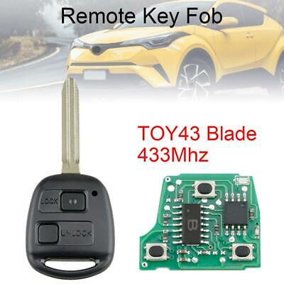 Keyless Entry Car Remote Key FOB Fit For Toyota RAV4 Prado Tarago Kluger Avensis