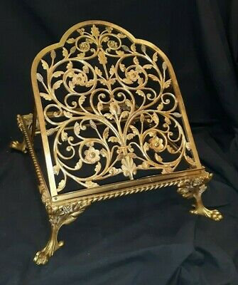 Fine Antique Gilded Bronze Folding Easel Type  Book or Bible Stand  French ?