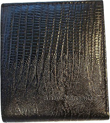 New Italian style Woven printed leather man/'s bi-fold wallet 9 Credit card+ID bn