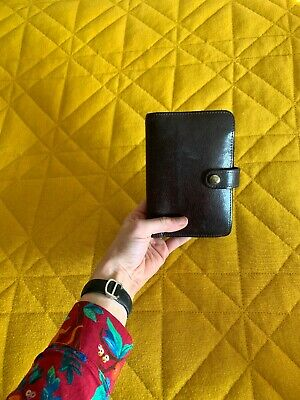 Genuine Mulberry Leather Organiser Filofax Diary £250 rrp