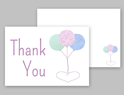 1-100 Pack of Thank You Cards Postcards Notes & Envelopes A6 Thankyou Pastel