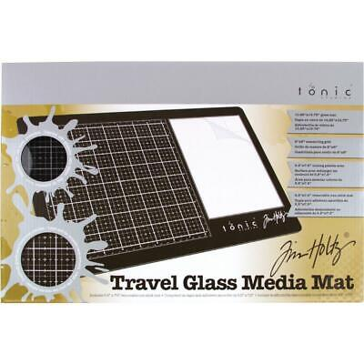 Tim Holtz Glass Media Mat - Travel Size - plus Protective Pouch - NEW!