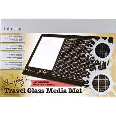 Tim Holtz Glass Media Mat - Travel Size - Left Handed - plus Protective Pouch...