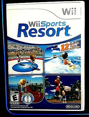 FREE SHIPPING Wii Sports Resort 2009 CASE AND MANUAL ONLY NO GAME FREE SHIPPING