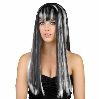 Adult Ladies Dead Gorgeous Gothic Witch Vampire Wig Fancy Dress Halloween