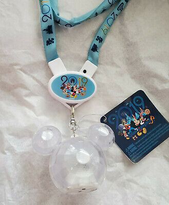 Disney Parks Mickey Crystal Icon 2019 Light Up Necklace Glow Lanyard ~ NWT