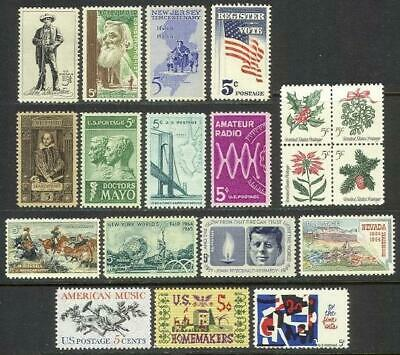 1964 US Commemorative Year Set (19 stamps) ~ MNH