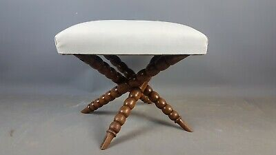 1920's Bobbin turned walnut stool
