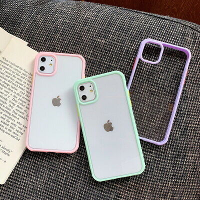 For iPhone 11 Pro Max XR XS 7 8 6 Shockproof Bumper Hybrid Clear Hard Case Cover