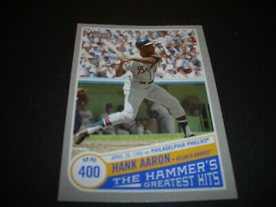 HANK AARON 2019 TOPPS HERITAGE HIGH#'s-THE HAMMERS GREATEST HITS #THGH 7