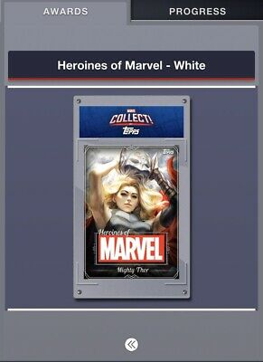 Topps Marvel Collect Heroines White Complete 20 Digital Card Set WITH AWARD