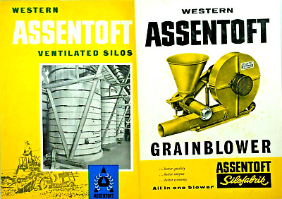 Rare Danish Western ASSENTOFT Ventilated SILOS & GRAINBLOWER Leaflet in English