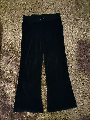 Primark Black Velour Tracksuit Bottoms Trousers Age 13 Years Girls