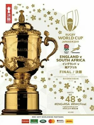 2019 RUGBY WORLD CUP FINAL OFFICIAL PROGRAMME  MINT  ENGLAND  v  SOUTH AFRICA