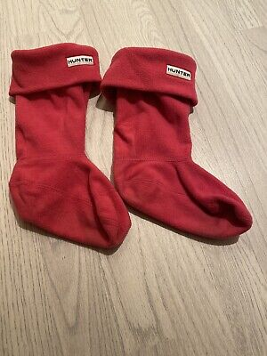 Size Small size 10-12 HUNTER Wellie boot fleece socks/liners Bright Pink VGC