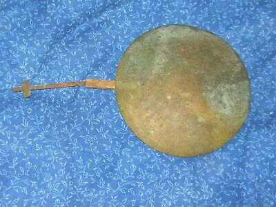 Antique Brass Face Pendulum For Large Wall Clock  Parts Only