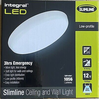 Round Led Bulkhead Maintained Emergency Commercial Light 3hrs Emergency