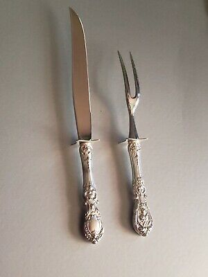 Reed & Barton Sterling Silver Francis I 2-Piece Carving Utensil Set Knife & Fork