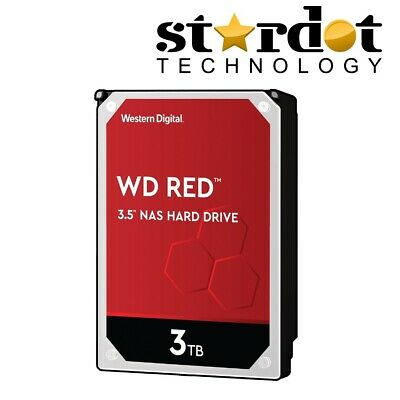 "Western Digital WD Red 3 TB Internal 5400 RPM 3.5"" Hard Drive - WD30EFRX NAS HDD"