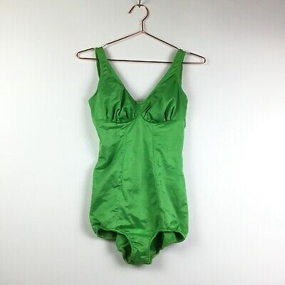Vintage 1950s Swimsuit Size Medium Command Performance Bombshell Pinup Green