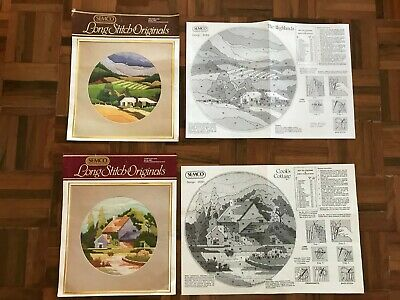 2x Semco long stitch originals patterns only The highlands Cooks cottage