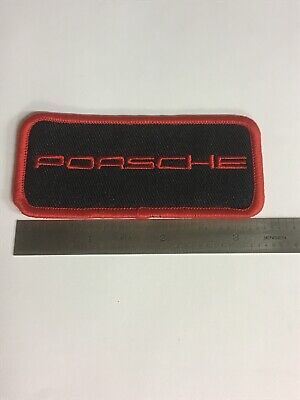 "Porsche Uniform Mechanic Racing Patch 4"" X 1 5/8"" Sew On New AA"