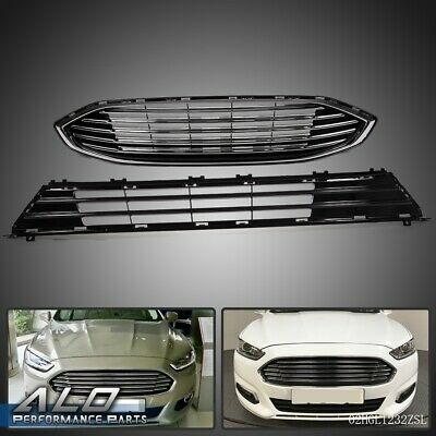 For Ford Fusion 2017-2018 Front Bumper Upper & Lower Grille Assembly
