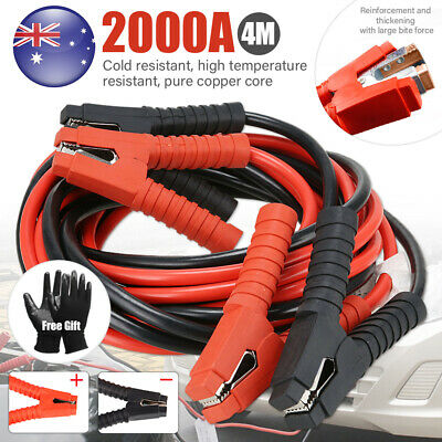Durable Heavy Duty 2000AMP Jumper Leads Jump 4m Booster Cable Surge Protected AU