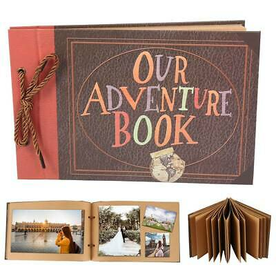 80 Pages Anniversary Scrapbook DIY Self-Adhesive Photo Album Our Adventure Book