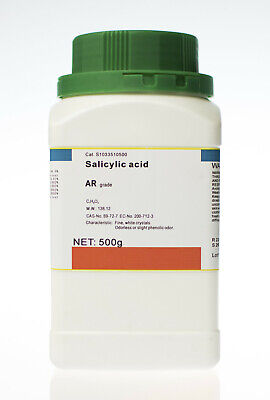 Salicylic acid dry powder extremely high purity AR grade 500g + lab bottle