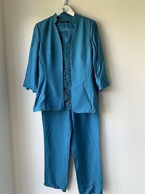 DESIGNER MONTI 3 Piece Pant SET Size 12 PERFECT For WEDDING!!