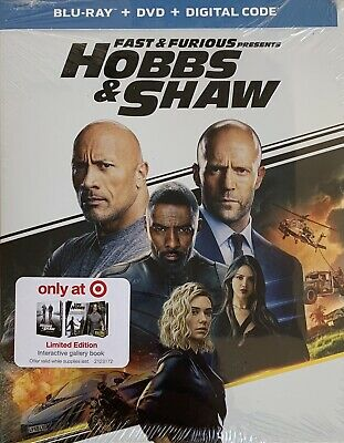 FAST & FURIOUS ~ HOBBS & SHAW ~ Blu-Ray + DVD + Digital <INCLUDES GALLERY BOOK>