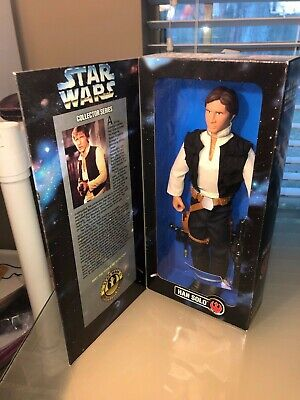 """1996 KENNER Star Wars COLLECTOR SERIES 12"""" Han Solo ACTION FIGURE, DOLL NEW MINT"""