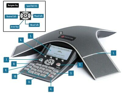 Polycom HDX 7000 SERIES SoundStation IP7000 IP Conference Phone Voip
