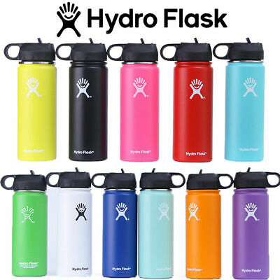 Hydro Flask Stainless Steel Water Bottle Insulated Flask Wide Mouth With Straw