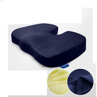 Coccyx Orthopedic Memory Foam Seat Cushion - Helps With Sciatica Back Pain