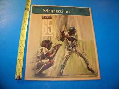 Baseball 1965 Chicago Tribune Sunday Magazine MLB 1965 Newspaper Special Section