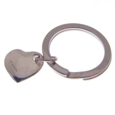 Silver Heart Keyring.  Hallmarked Silver Small Heart For Valentine Key Ring
