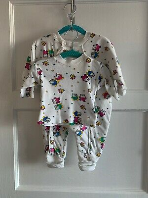 Baby Girls Boys Vintage Mothercare All In One Romper and Top 0-3 3-6 60cm 70cm