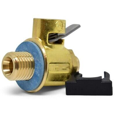 F108S S-Series Short Nipple Oil Drain Valve with Lever Clip 16mm-1.5 L5O2