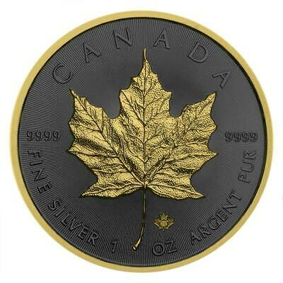 2019 Maple Leaf 1oz .9999 Silver Coin - Golden Ring Edition