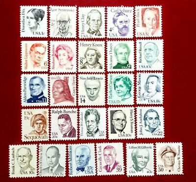 1980-1985 US Stamp SC#1844-1869 Great American Issue Complete Set