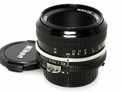 Nikon Nikkor Ai 50mm F2 MF Standard Prime Lens Excellent from Japan F/S