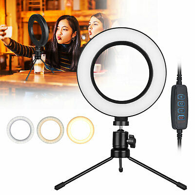 "6 "" LED Ring Light Lamp Selfie Camera Phone Studio Photo Video Live Dimmable"