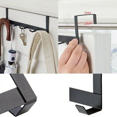 1/2pcs 5 in 1 Hooks Hanger Door Heavy Duty Rack Organizer Towel Coat Bag Hanging